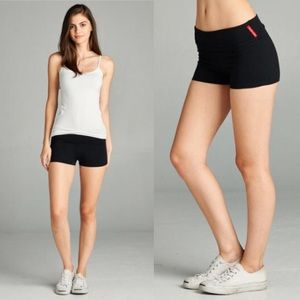 active usa Shorts - ⭐️3/$25 S,M,L Roll Over Waist Black Workout Short